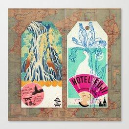 Label Fables, Japan I :: Fine Art Collage Canvas Print