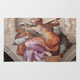 The Libyan Sybil Sistine Chapel Ceiling by Michelangelo Rug