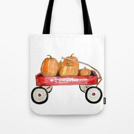 Red wagon watercolor  Tote Bag