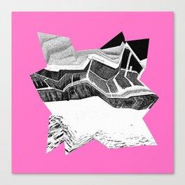 Glitch Scrunch Pink 2 Canvas Print