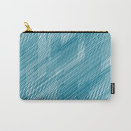 The Blue Hash - Geometric Pattern Carry-All Pouch