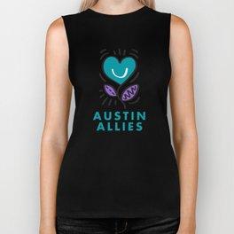 Austin Allies Turq Flower Biker Tank