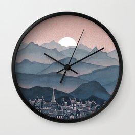 Seek - Sunset Mountains Wall Clock