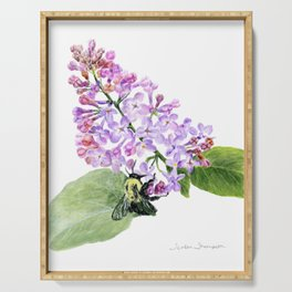 Lilac Love by Teresa Thompson Serving Tray
