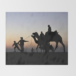 Thar desert, Jaisalmer, Rajsthan Throw Blanket