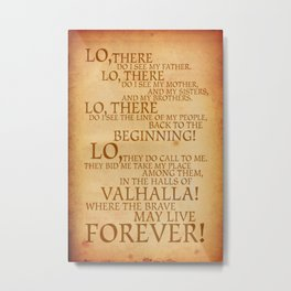 Viking Prayer Metal Print