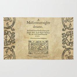 Shakespeare. A midsummer night's dream, 1600 Rug