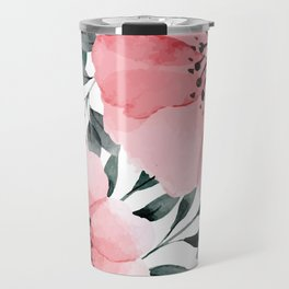 Big Watercolor Flowers Travel Mug