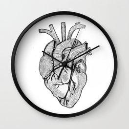 Croquis de cœur Wall Clock