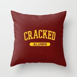Cracked Alumni Throw Pillow
