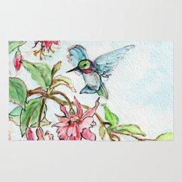 Honeysuckle Hummingbird Rug