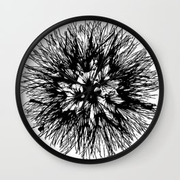 Make A Wish Dandelion Vector In Black Wall Clock