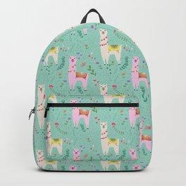 Llama Pattern Backpack