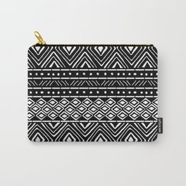 African Mud Cloth // Black Carry-All Pouch