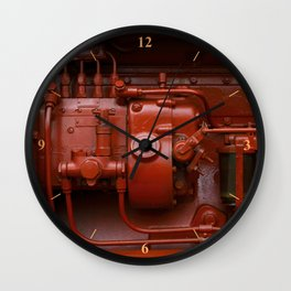 Red Tractor motor Wall Clock