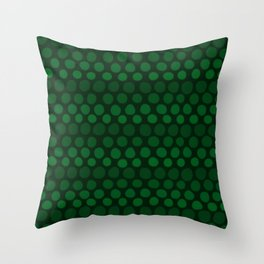 Emerald Green Subtle Gradient Dots Throw Pillow
