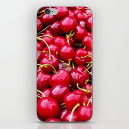 Fresh and delicious fruity red cherries fruit food pattern iPhone Skin