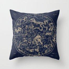 Gold Ceiling   Zodiac Skies Throw Pillow