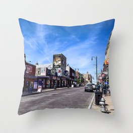 Beale Street Throw Pillow