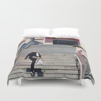 bread Duvet Covers featuring Daily Bread by Glenn Designs