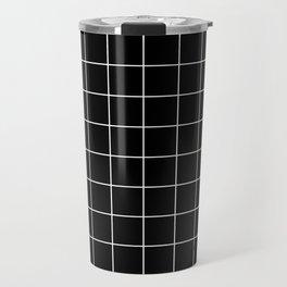 Grid Simple Line Black Minimalistic Travel Mug
