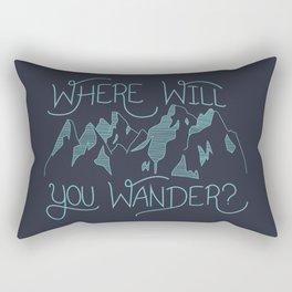 Where Will You Wander? Rectangular Pillow