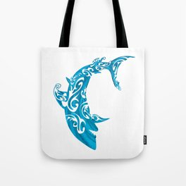 Shark Dive Watercolor Save A Shark Tote Bag