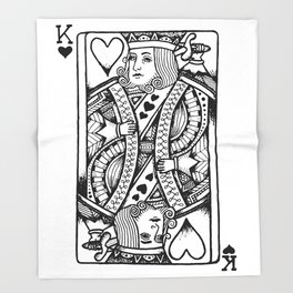 king of hearts Throw Blanket