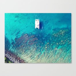 Reef Boat Canvas Print