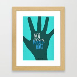 NOT PENNYS BOAT - LOST TV SHOW  Framed Art Print