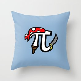 Pi Pirate Throw Pillow