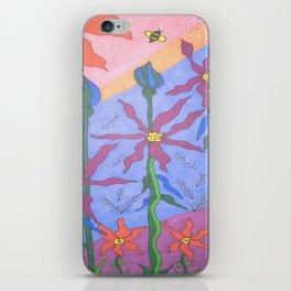 Blue Bohemian Garden Art iPhone Skin