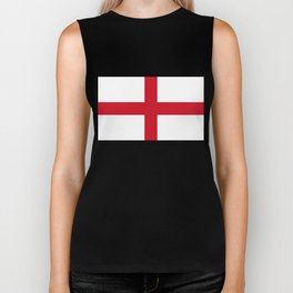 Flag of England (St. George's Cross) - Authentic version to scale and color Biker Tank