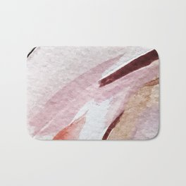 Away [2]: an abstract mixed media piece in pinks and reds Bath Mat