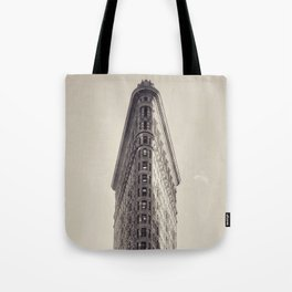 Flatiron Building, original New York photography, skyscrapers, wall decoration, home decor, nyc b&w Tote Bag