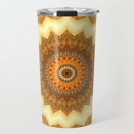 Mandala gold of the incas Travel Mug