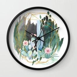 cactus garden Wall Clock