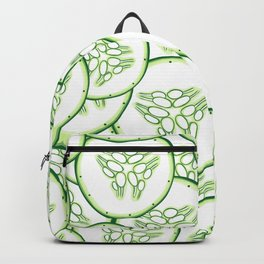Cucumber slices pattern design Backpack