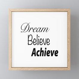 Dream Believe Achieve Bold Framed Mini Art Print