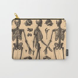 Vintage Human Skeleton Anatomy Diagram (1907) Carry-All Pouch