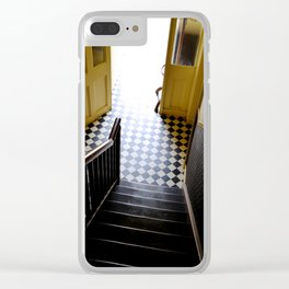Vintage Stairs Clear iPhone Case