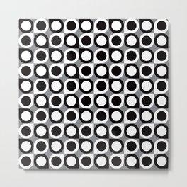 Geometric Pattern #193 (black gray circles) Metal Print