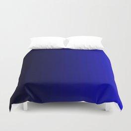 Rich Vibrant Indigo Blue Gradient Duvet Cover