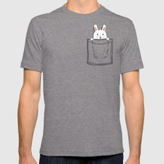 My Pet MEDIUM Tri-Grey Mens Fitted Tee
