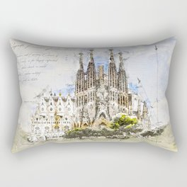 Sagrada Familia, Barcelona Spain Rectangular Pillow