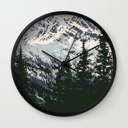 Glacier National Park Wall Clock
