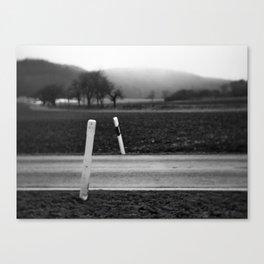 Road crossing Canvas Print