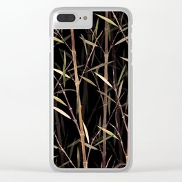 Summer Bamboo Clear iPhone Case