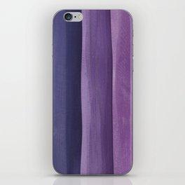 Purple Gradient on Wood iPhone Skin