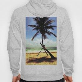 Palm on the beach. Hoody